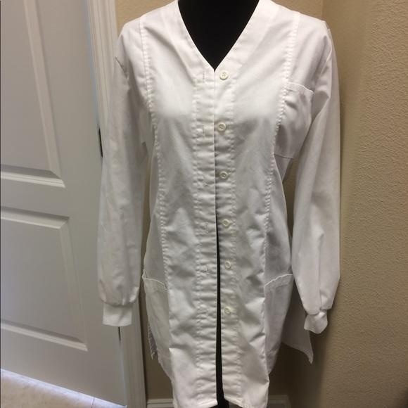 1ea36aea893 Barco Uniforms Jackets   Blazers - Small sm white lab coat sz 6 8 Barco  medical